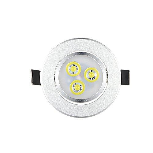 Weehey Spotleuchten & Leuchtsysteme Silber LED Deckeneinbauleuchten Leuchte Lampe Super Helle Lichter Innenbeleuchtung Warmweiß