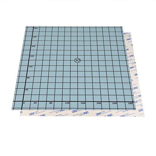 SOOWAY Flex Magnetic Two Layer Printing Build Surface para impresora 3D Cama caliente Hotbed Build Platform (310x310mm)