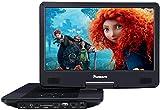 NAVISKAUTO 14' Blu-ray-Player Auto DVD Player Tragbarer Heimkino HDMI HD 1080P 1920*1080 Akku.4000mAh USB SD bis 128GB