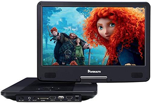 "NAVISKAUTO 14\"" Blu-ray-Player Auto DVD Player Tragbarer Heimkino HDMI HD 1080P 1920*1080 Akku.4000mAh USB SD bis 128GB"