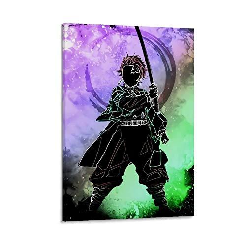 DRAGON VINES Hero Soul Demon Slayer Kamado Tanjirou Pintura enmarcada Póster de obra de arte para sala de estar, dormitorio, oficina y lugares públicos, 20 x 30 cm