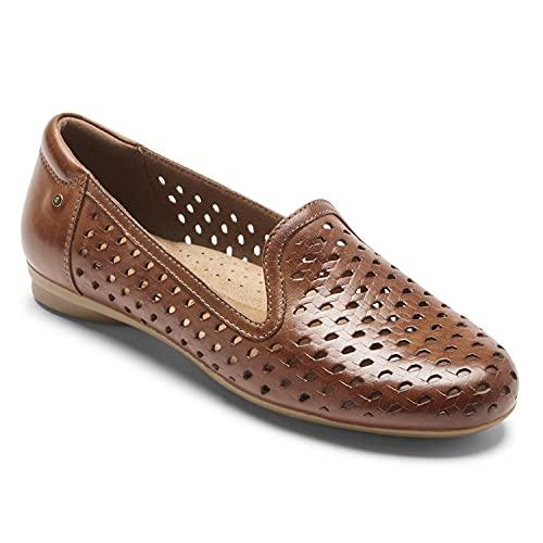 Cobb Hill Maiika Womens Woven Slip-on Loafer Tan Leather - 8 Narrow