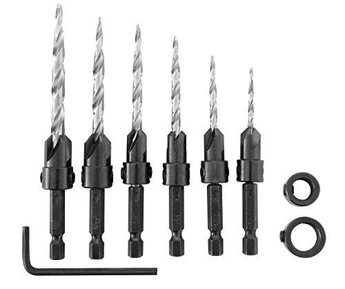 Irwin Tools 1882792 SPEEDBOR Countersink Wood Drill Bit, 8-Piece