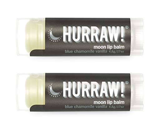 Hurraw Moon Night Treatment (Blue Chamomile, Vanilla) Lip Balm, 2 Pack