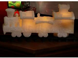 QVC Home Reflections H196353 Wax Flameless Candle Train with Timer