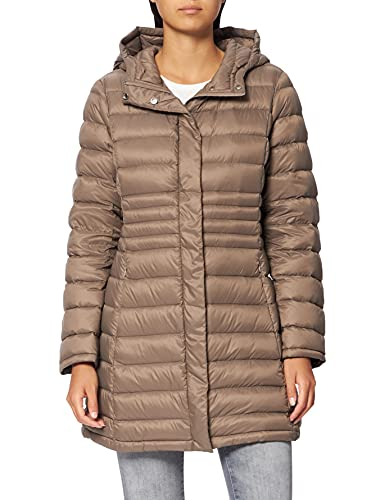 United Colors of Benetton Giubbotto 2TWD536O5 plumón Medio, Fossil 04b, 40 para Mujer