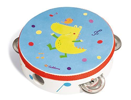 Eichhorn 100003483 Musik Tamburin mit süßem Tiermotiv...