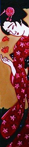 Japanese Lady - Decorative Ceramic Art Tile - 3'x16' En Vogue by En Vogue - Art on Tiles