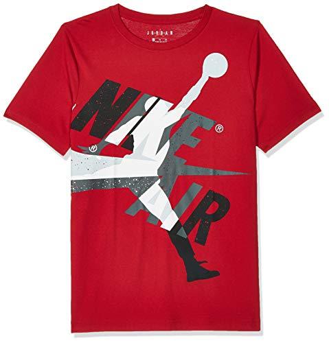 NIKE Jumpman Os Classic Graphic - Camiseta para niño, Niños, Camiseta, 956901, Gym Red, 8-10Y