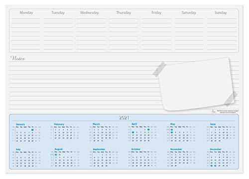Almohadilla de escritorio con calendario A3, 2019, 50 hojas por libreta con los días de la semana