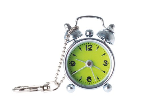 Present Time PTG0123GR Schlüsselanhänger Wecker, Limettengrün