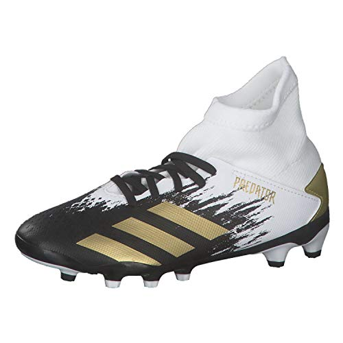adidas Predator 20.3 MG J, Zapatillas de fútbol, FTWBLA/Dormet/NEGBÁS, 32 EU