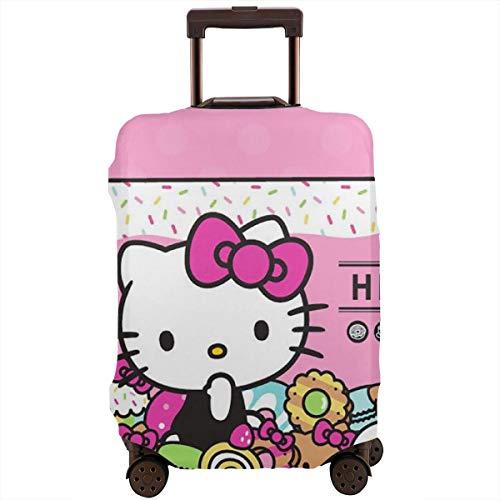 Funda Protectora para Equipaje de Viaje de Hello Kitty Cafe, Lavable, para Equipaje de 18 a 32 Pulgadas