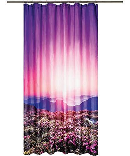 miomare Duschvorhang Vorhang Dusche Badezimmer 180 x 200 cm - Bunt Dämmerung