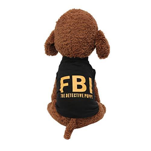 Coversolat Hundeshirt Kleine Hunde Sommer T-Shirt Weste Alphabet Drucken Hundekostüm für Französische Bulldogge Chihuahua