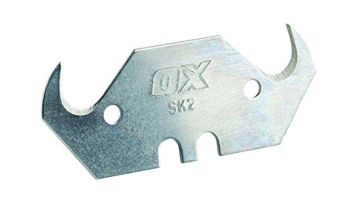 OX Pro 10 Pack Heavy Duty Hooked Knife Blades & Dispenser