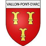 Vallon-Pont-d'Arc 07 City - Adhesivo adhesivo (8 cm)