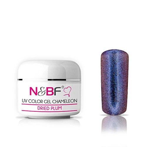 N&BF Chamäleon UV Gel 5ml dünnviskos | Farbwechsel Gel Dried Plum | Hologramm Gel rot - blau | Made in EU | Flip Flop Colorgel | Effektgel für Gelnägel | Chameleon Colourgel