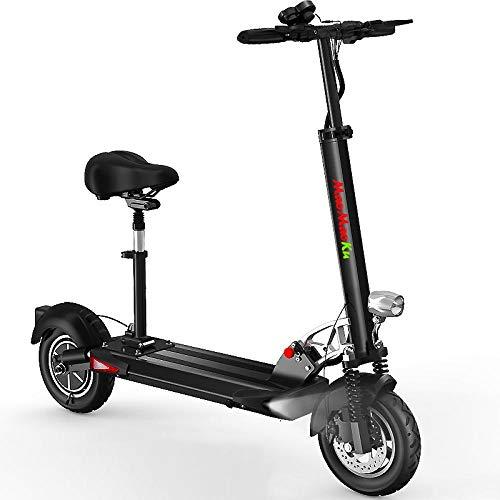 Minkui Scooter Elettrico per Adulti, Scooter Pieghevole, Faro a LED, Potenza Motore 48V500W, Batteria al Litio 16800, Batteria a Lunga Durata 75 km-48V500W / 55 km