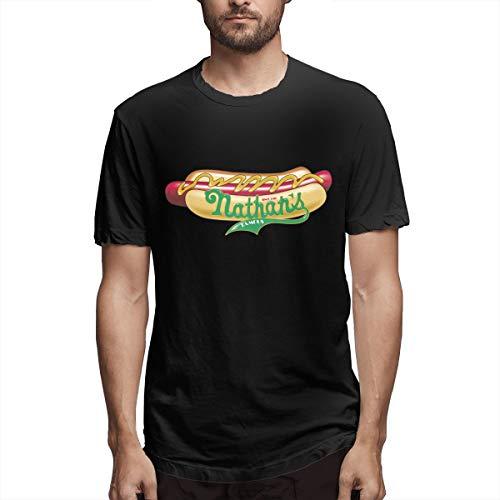 SHGDI Nathans Hot Dog Men's Short Sleeve T-Shirt Black
