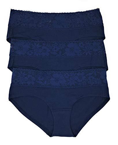 Victoria's Secret Lace Waist Hiphugger Panty 3er Set -  -  Large