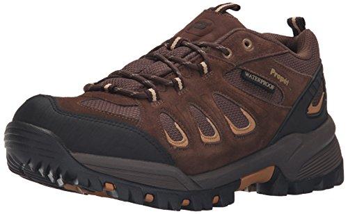 Propet Men's Ridge Walker Low Hiking Boot Ankle Bootie, Brown, 11 5E US