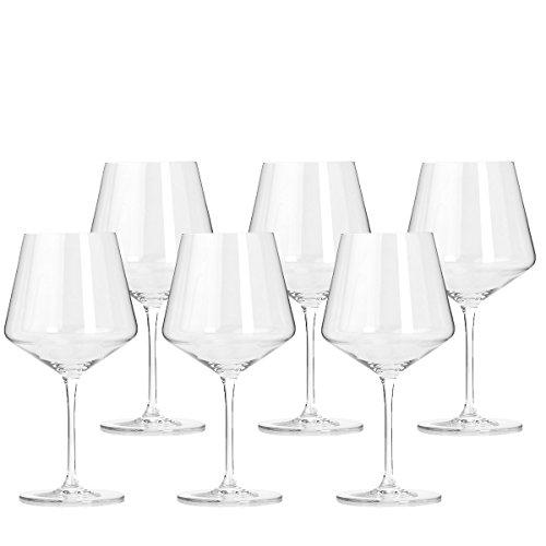 Leonardo Puccini Rotwein-Gläser, Rotwein-Kelch mit gezogenem Stiel, spülmaschinenfestes Wein-Glas, 6er Set, 730 ml, 069555