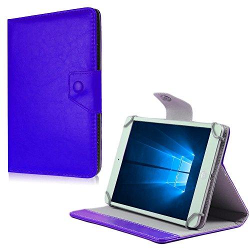 NAUC Schutz Hülle Medion Lifetab S10366 S10352 P10356 Tasche Tablet Schutzhülle Cover, Farben:Blau