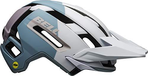 BELL Super Air MIPS, Casco da Bicicletta MTB Uomo, Opaco/Bianco Lucido/Viola, S (52-56cm)