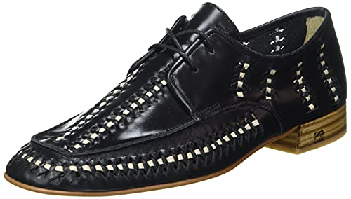 SCOTCH & SODA FOOTWEAR Damen Blythe Low lace Shoes Sneaker, Black, 41 EU