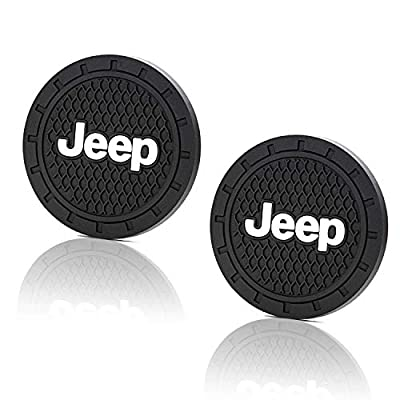 2pcs Only Suitable for Jeep Cup Holder Lights,Jeep Interior Atmosphere Light,for Grand Cherokee Wrangler JK JL Compass Cherokee Renegade Patriot Grand Comander Decoration Guide Robin Hood Commander