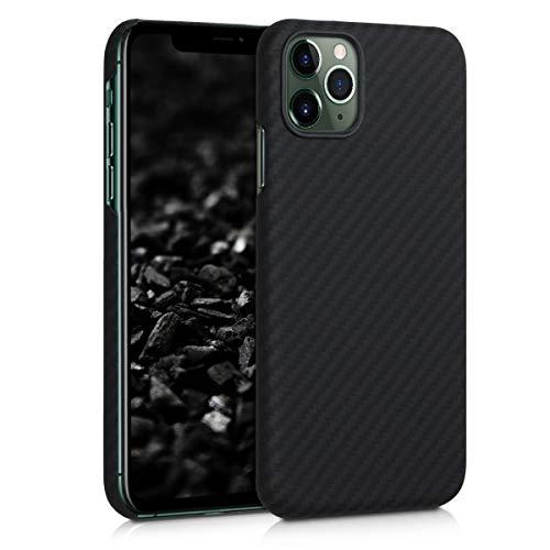 kalibri Schutzhülle kompatibel mit Apple iPhone 11 Pro Max - Hülle Aramid - Handy Cover Hülle Handyhülle Schwarz matt