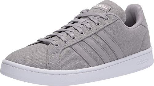 adidas mens Grand Court Sneaker, Light Granite/Light Granite/Orbit Grey, 11 US
