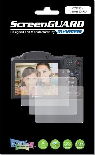 Guarmor - Protector de pantalla LCD para cámara digital Canon PowerShot SX500 IS (3 unidades)