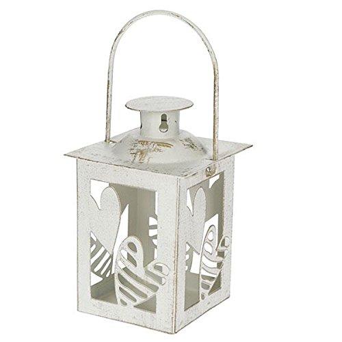 Brandani 54255 Mini lanterne battant cœur ivoire métal 6 x 6 x 11 h