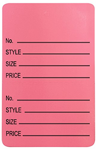 Amram Price Tags 1.25-in x 1.875-in Unstrung Perforated, Pink, Printed No; Style; Size; Price, 1,000 Tags