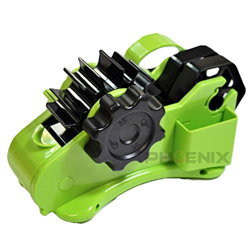 テープカッター テープディスペンサー 35mm裁断 セロハンテープ セロテープ 便利 半自動 手回しテープカッター 簡単 安全 工作 梱包 ラッピング 子供 園児 半自動テープカッター,ライムグリーン