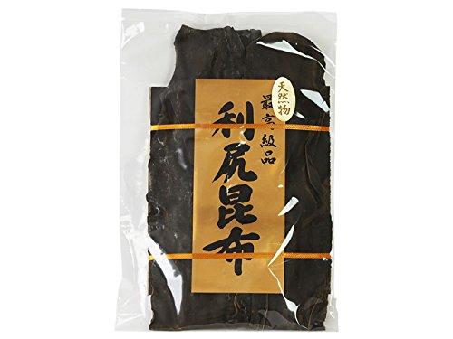 利尻昆布 180g (北海道利尻産) 京都高級料亭御用達のりしりこんぶ (最高級品天然昆布) 上品な出汁が取れるリシリコンブ (三大出汁昆布)