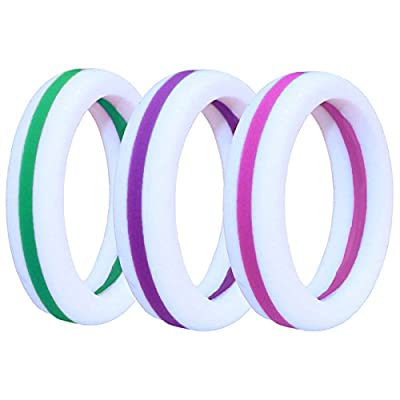 NAK Fitness Women's Silicone Wedding Band. Safe and Durable Silicone Wedding Ring for The Active Lifestyle.