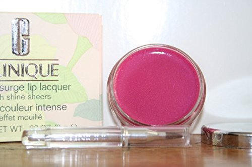Clinique Colour Surge Lip Lacquer Gloss High Shine Sheers 201 Drenched Pink .33oz/9g (Boxed) (0.33 Ounce Lip Lacquer)