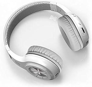 Stereo Bluetooth Wireless Headset Headphone Earphone With Call Mic/Microphone White