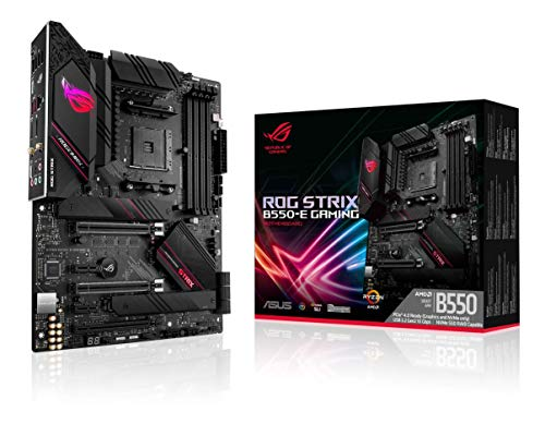 ASUS ROG Strix B550-E Gaming AMD AM4 (3ª generación Ryzen ATX Gaming Motherboard (PCIe 4.0, NVIDIA SLI, WiFi 6, 2.5Gb LAN, 14+2 Power Stages, USB 3.2 Type-C, Direccionable Gen 2 RGB y Aura Sync)