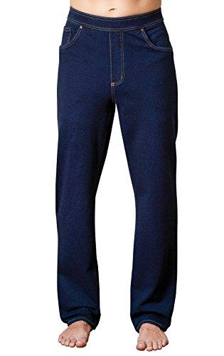 PajamaJeans Mens Stretch Jeans Denim - Jeggings for Men, Indigo, Small