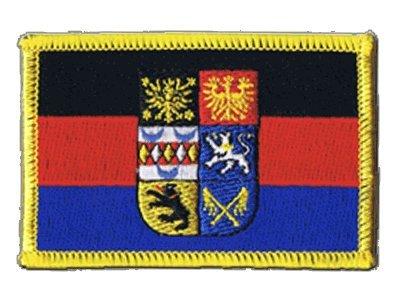 Flaggen Aufnäher Deutschland Ostfriesland Fahne Patch + gratis Aufkleber, Flaggenfritze®