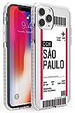 Case Warehouse embarque Personalizada Bono de Entrada: Sao Paulo Impact Funda para iPhone 11 Pro TPU Protector Ligero Phone Protectora con Personalizado Viajero