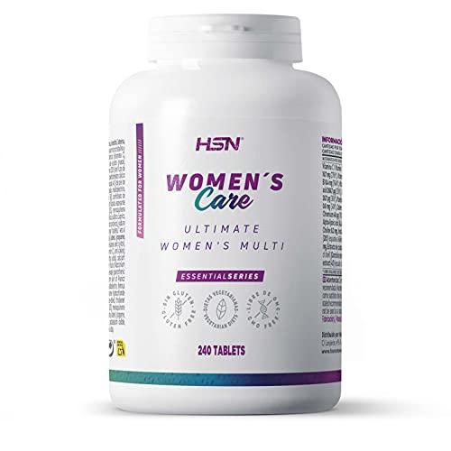 Multivitamínico para Mujeres de HSN Ultimate Women's Multi | Complejo de Vitaminas y Minerales, Extractos Herbales | Vegetariano, Sin Gluten, Sin Lactosa, 240 Tabletas