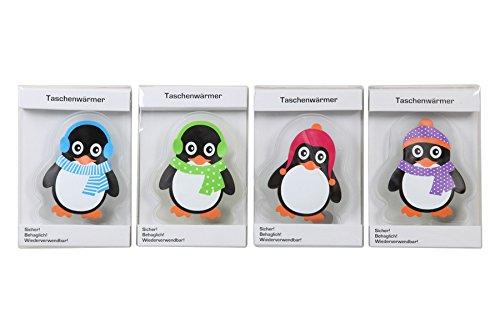 Unbekannt Handwärmer Taschenwärmer Pinguin 4er Set bunt