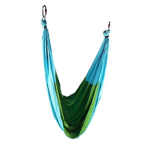 Yoga Sling Sling, Fitness Yoga Hamaca Luz Transpirable Exquisita Mano De Obra para Fitness(Azul Cielo y Verde Fruta)