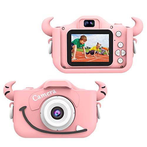 Wurkkos Cámara Digital de 12.0 Megapixeles para niños. para Chicos y Chicas Entre 3 y 10 años de Edad. Juguete para Regalo de cumpleaños.Cámara para grabación HD 1080P (Tarjeta de 16GB incluida)