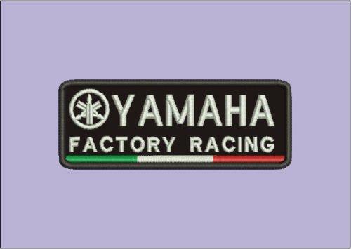 Patch Yamaha Moto Factory Racing V1cm 10,5x 4parche bordado bordado -675